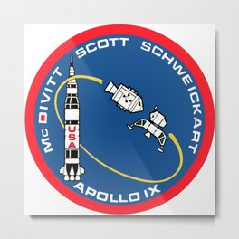 Apollo 9 Logo Metal Print