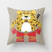 jaguar Throw Pillows featuring Jaguar by EinarOux