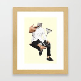 Crazy always treated me right Framed Art Print