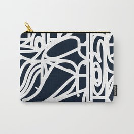 Stained Glass Pattern Black and White Carry-All Pouch