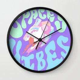 Sherbert space vibes Wall Clock