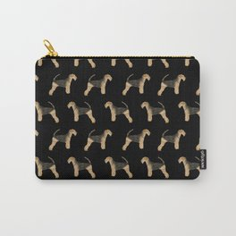 Airedale Terrier pattern minimal pet portrait dog gifts dog breeds dog lover Carry-All Pouch
