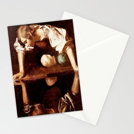 Michelangelo Merisi da Caravaggio, Narcissus at the Source, oil on canvas, 1597-99 Stationery Cards