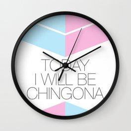 Chingona Wall Clock