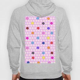 Flower Power Pattern on light pink background Hoody