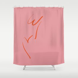 Original W&V in pink Shower Curtain