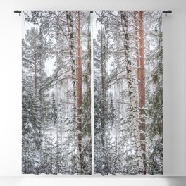 Winter in the Mountains Blackout Curtain