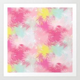 Blurred Blend - Pink Art Print