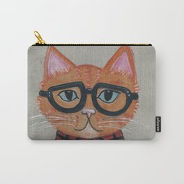 Hipster Cat Carry-All Pouch