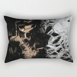 Gold and Silver Crystals Rectangular Pillow