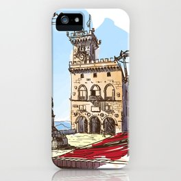 Sketches from Italy - San Marino iPhone Case