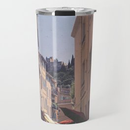 A Street In Cassis Travel Mug