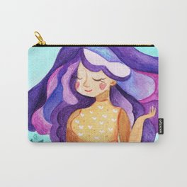 Wisteria Purple Flower Girl Carry-All Pouch