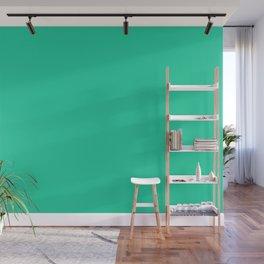 From The Crayon Box – Caribbean Green - Bright Aqua Green Solid Color Wall Mural