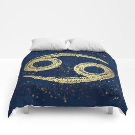 Cancer Zodiac Sign Comforters