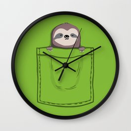 My Sleepy Pet Wall Clock