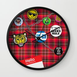 Punk Nerd Wall Clock