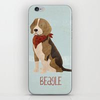 beagle iPhone & iPod Skins featuring Beagle by 52 Dogs