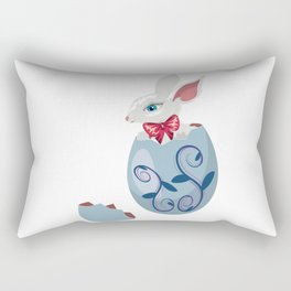 Cute Easter Bunny in cracked egg Rectangular Pillow