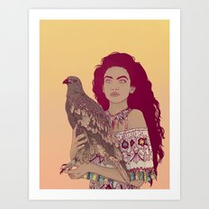 Falcon Lady Art Print