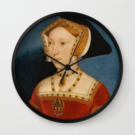 "Hans Holbein the Younger ""Jane Seymour, Queen of England"" Wall Clock"