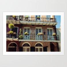 NOLA Balcony Art Print