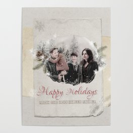 OUAT HAPPY HOLIDAYS // Hood-Mills Family Poster