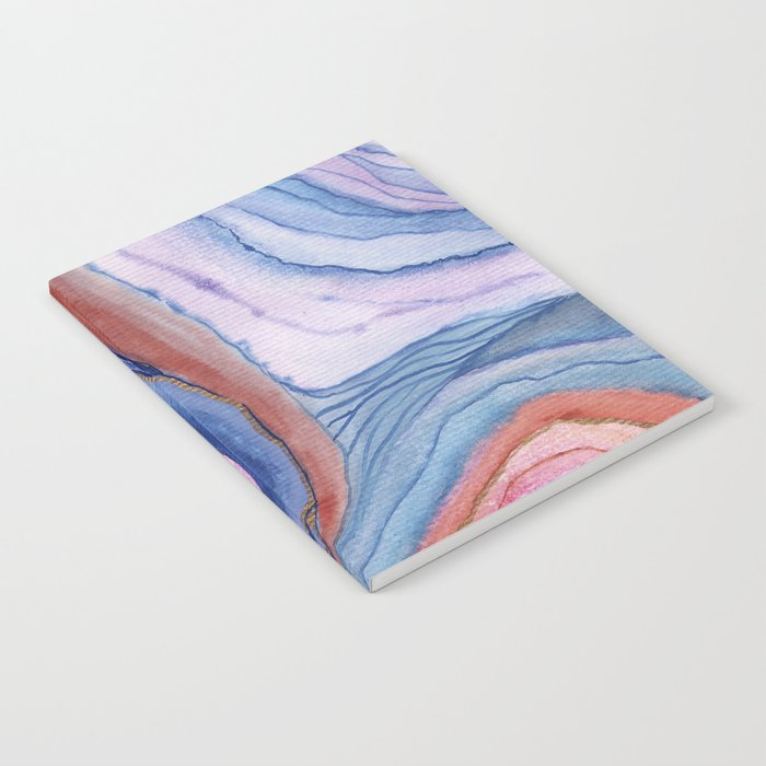AGATE Inspired Watercolor Abstract 04 Notebook