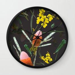 Wild Night Natives Wall Clock