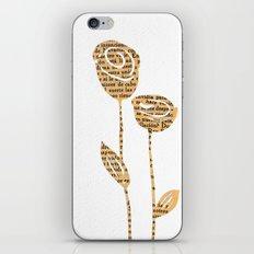 PAPERCUT FLOWER 5 iPhone & iPod Skin