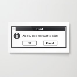 Basic Existentialism I Metal Print