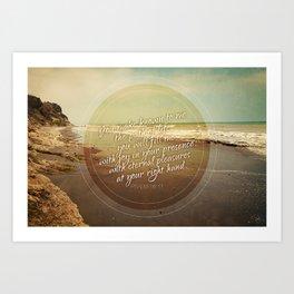 Path of Life PSalm 16:11 Art Print