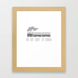 On My Way To Work - Commuter Retro Steam Train Framed Art Print