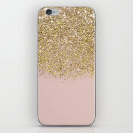 Pink and Gold Glitter iPhone Skin