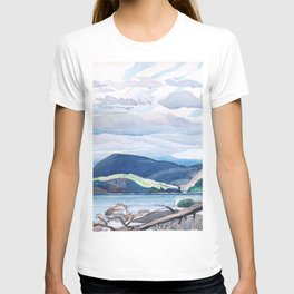 Franklin Carmichael - Lake and Hills - Canada, Canadian Watercolor Painting - Group of Seven T-shirt