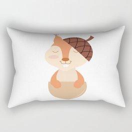 Little Squirrel Happy Autunm - Fall Begins Rectangular Pillow