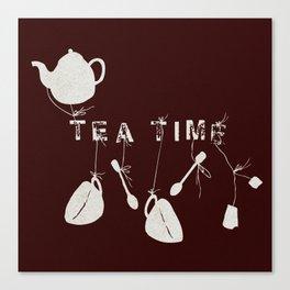 Brown Tea Time Canvas Print