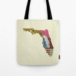 Florida State Map Tote Bag