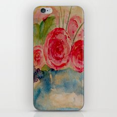 Flowers in a blue vase iPhone & iPod Skin