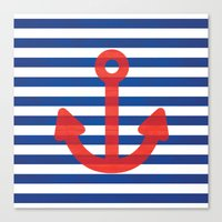 sailor Canvas Prints featuring Sailor.. by PearGraphics