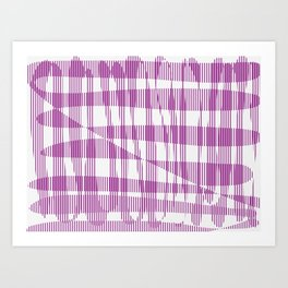 Purple/Violet Pattern Art Print