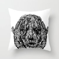 anxiety Throw Pillows featuring Anxiety by Ryan Bussard