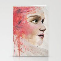 emily rickard Stationery Cards featuring Emily by Autumn Chiu