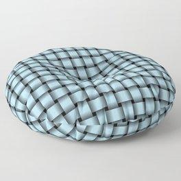 Small Light Blue Weave Floor Pillow