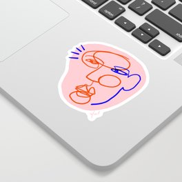 Abstract Face Drawing Sticker