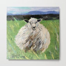 Big fat woolly sheep Metal Print