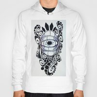 evil eye Hoodies featuring Evil Eye by King Catastropa