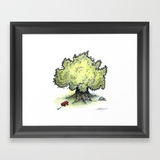Red Wagon Framed Art Print