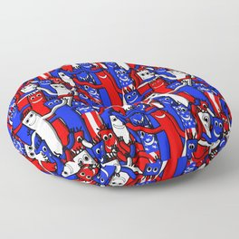 red white and blue wacky inflatable arm flailing tube man Floor Pillow