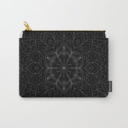 Tranquility | No. 1 | Black and white | Mandala Art Carry-All Pouch